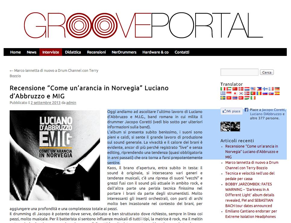 Nuova recensione su Grooveportal.it