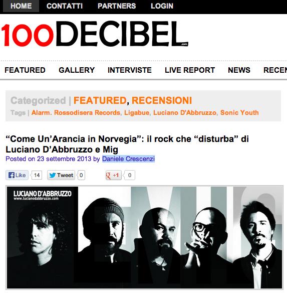 """Nuova recensione dell'album """"Come un'Arancia in Norvegia"""" su 100decibel.com"""
